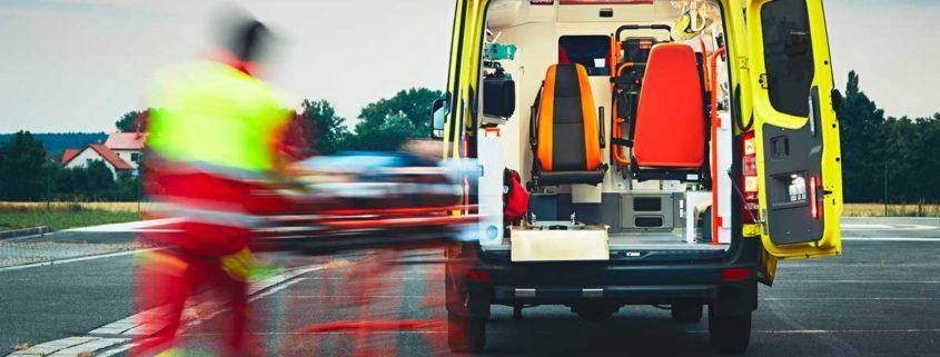 Rettungswagen und Sanitäter